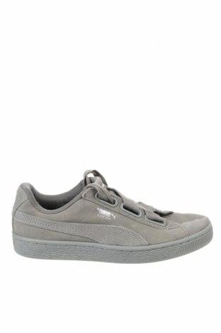 Дамски обувки PUMA, Размер 37, Цвят Сив, Естествен велур, Цена 45,36лв.