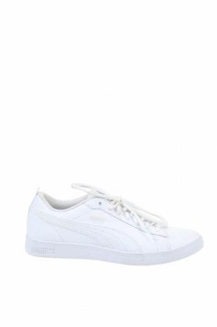 Дамски обувки PUMA, Размер 39, Цвят Бял, Естествена кожа, еко кожа, Цена 57,00лв.