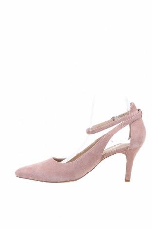 Дамски обувки Pier One, Размер 39, Цвят Пепел от рози, Естествен велур, Цена 76,50лв.