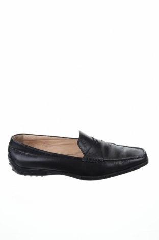 Дамски обувки Tod's, Размер 40, Цвят Черен, Естествена кожа, Цена 94,60лв.