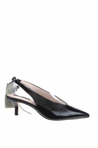 Дамски обувки Zara, Размер 36, Цвят Черен, Естествена кожа, Цена 51,68лв.