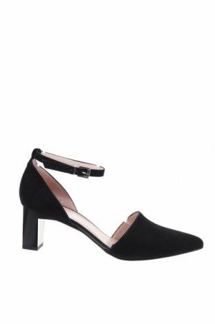 Дамски обувки Zign, Размер 40, Цвят Черен, Естествен велур, Цена 72,00лв.