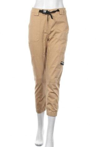 Дамски панталон Bershka, Размер S, Цвят Бежов, Памук, Цена 26,93лв.