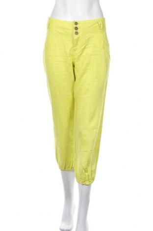 Γυναικείο παντελόνι Cache Cache, Μέγεθος L, Χρώμα Πράσινο, Λινό, Τιμή 17,28€