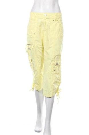 Дамски панталон Colours Of The World, Размер L, Цвят Жълт, Памук, Цена 20,48лв.
