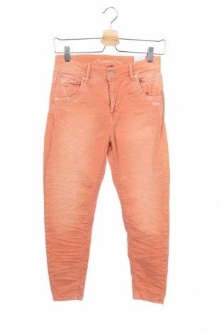 Дамски панталон Gang, Размер XS, Цвят Оранжев, 98% памук, 2% еластан, Цена 21,97лв.