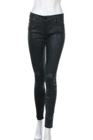 Дамски панталон Hallhuber, Размер S, Цвят Зелен, 77% памук, 21% полиестер, 2% еластан, Цена 38,90лв.
