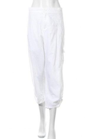 Дамски панталон Janina, Размер XXL, Цвят Бял, Памук, Цена 24,94лв.