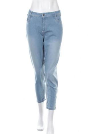 Дамски дънки Laura Torelli, Размер L, Цвят Син, 78% памук, 21% полиестер, 1% еластан, Цена 23,94лв.