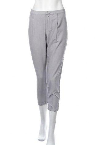 Дамски панталон Mbym, Размер M, Цвят Сив, 83% полиестер, 13% вискоза, 4% еластан, Цена 56,94лв.
