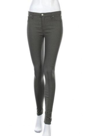 Дамски панталон One Love, Размер M, Цвят Зелен, 77% вискоза, 20% полиестер, 3% еластан, Цена 7,09лв.