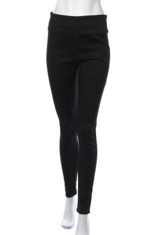 Дамски панталон Pieces, Размер L, Цвят Черен, 71% памук, 27% полиестер, 2% еластан, Цена 40,12лв.
