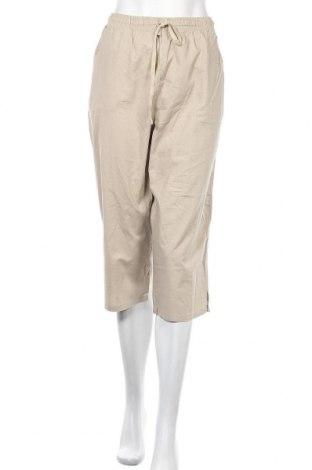 Γυναικείο παντελόνι Solutions, Μέγεθος XL, Χρώμα  Μπέζ, Βαμβάκι, Τιμή 5,00€