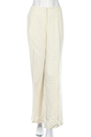 Дамски панталон TWINSET, Размер XL, Цвят Екрю, 73% вискоза, 27% лен, Цена 152,57лв.