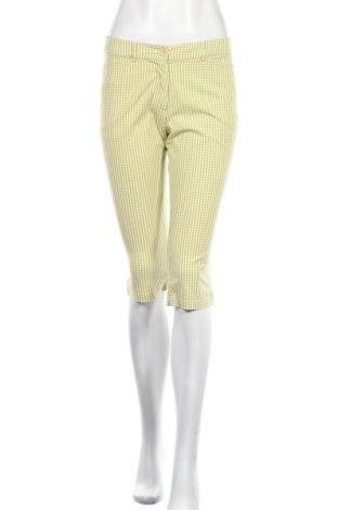 Дамски панталон Tara, Размер S, Цвят Зелен, 65% памук, 32% полиамид, 3% еластан, Цена 23,94лв.