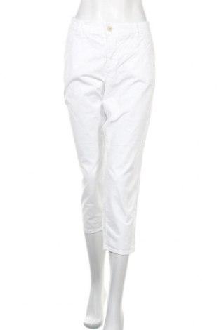 Дамски панталон Triangle By s.Oliver, Размер XL, Цвят Бял, 98% памук, 2% еластан, Цена 23,21лв.
