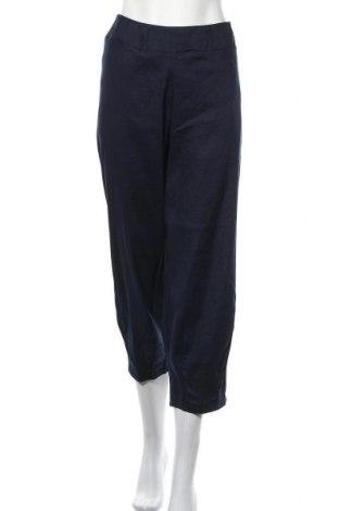 Дамски панталон Ts, Размер XXL, Цвят Син, 52% лен, 45% вискоза, 3% еластан, Цена 26,25лв.