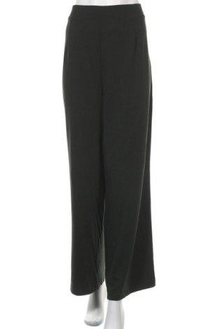 Дамски панталон Uniqlo, Размер XXL, Цвят Зелен, 62% вискоза, 37% полиестер, 1% еластан, Цена 15,70лв.