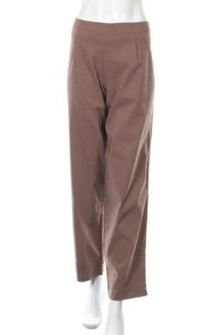 Γυναικείο παντελόνι Viola, Μέγεθος XL, Χρώμα Καφέ, 97% βαμβάκι, 3% ελαστάνη, Τιμή 9,74€