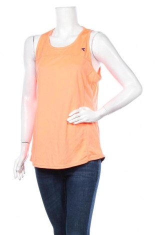 Γυναικείο αμάνικο μπλουζάκι Diadora, Μέγεθος XL, Χρώμα Πορτοκαλί, Πολυεστέρας, Τιμή 5,71€