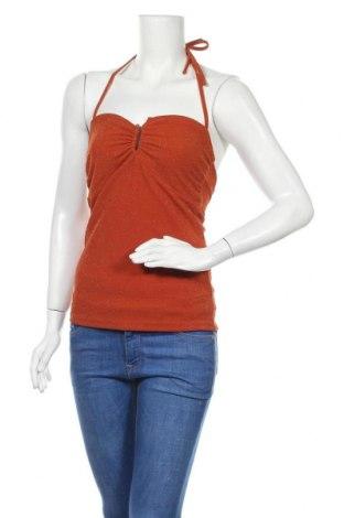 Γυναικείο αμάνικο μπλουζάκι Gestuz, Μέγεθος S, Χρώμα Πορτοκαλί, 95% πολυεστέρας, 5% ελαστάνη, Τιμή 13,67€