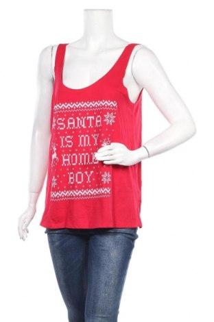 Γυναικείο αμάνικο μπλουζάκι Girl Xpress, Μέγεθος XL, Χρώμα Κόκκινο, Βαμβάκι, πολυεστέρας, Τιμή 8,44€