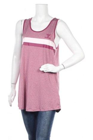 Γυναικείο αμάνικο μπλουζάκι Hummel, Μέγεθος XL, Χρώμα Ρόζ , 90% πολυεστέρας, 10% ελαστάνη, Τιμή 6,23€
