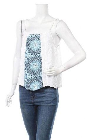 Γυναικείο αμάνικο μπλουζάκι Mambo, Μέγεθος XL, Χρώμα Λευκό, Βισκόζη, Τιμή 4,42€