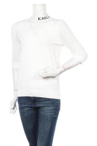 Дамски пуловер Karl Lagerfeld, Размер L, Цвят Бял, 83% вискоза, 17% полиестер, Цена 239,25лв.