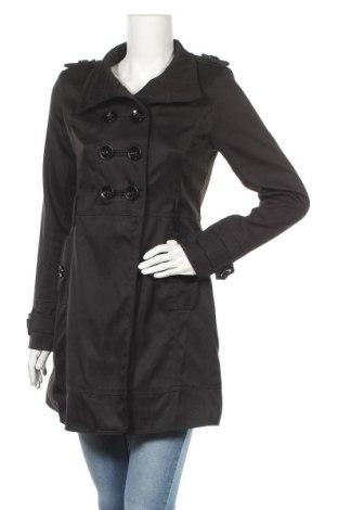 Дамски шлифер, Размер M, Цвят Черен, 80% полиестер, 18% памук, 2% еластан, Цена 25,83лв.