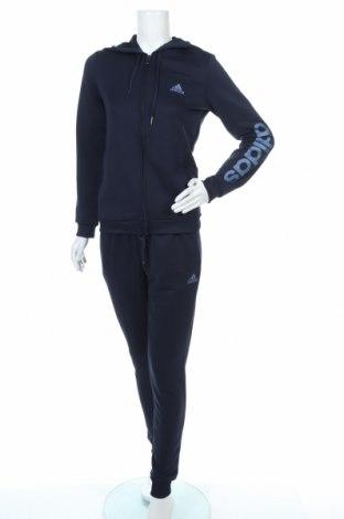 Дамски спортен комплект Adidas, Размер S, Цвят Син, Полиестер, Цена 66,75лв.