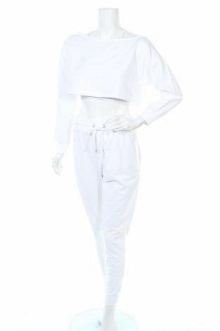 Дамски спортен комплект Missguided, Размер M, Цвят Бял, 60% памук, 40% полиестер, Цена 43,52лв.