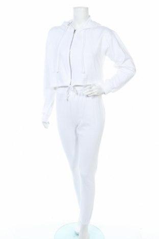 Γυναικείο αθλητικό σετ Missguided, Μέγεθος S, Χρώμα Λευκό, 60% βαμβάκι, 40% πολυεστέρας, Τιμή 16,24€