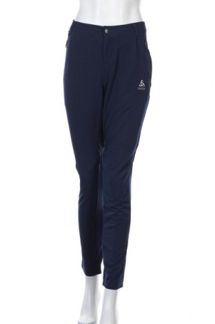 Дамски спортен панталон Odlo, Размер M, Цвят Син, 86% полиестер, 14% еластан, Цена 55,76лв.