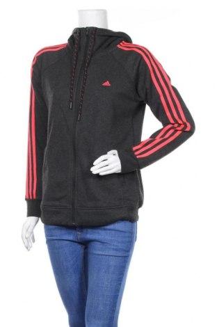 Дамски суичър Adidas, Размер M, Цвят Сив, 75% полиестер, 25% памук, Цена 25,50лв.