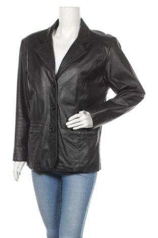 Дамско кожено сако, Размер M, Цвят Черен, Естествена кожа, Цена 20,74лв.