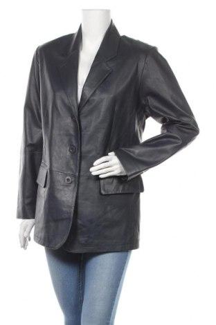 Дамско кожено сако, Размер M, Цвят Син, Естествена кожа, Цена 39,69лв.