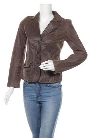 Дамско кожено сако Blend She, Размер S, Цвят Кафяв, Естествена кожа, Цена 27,64лв.