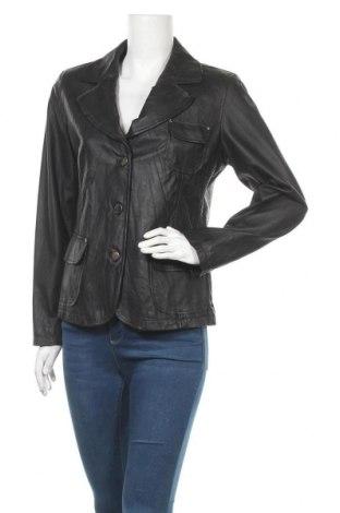Дамско кожено сако Bonita, Размер L, Цвят Черен, Естествена кожа, Цена 16,28лв.
