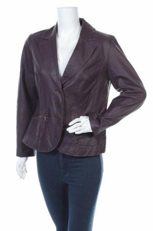 Дамско кожено сако Bonita, Размер M, Цвят Лилав, Естествена кожа, Цена 36,86лв.