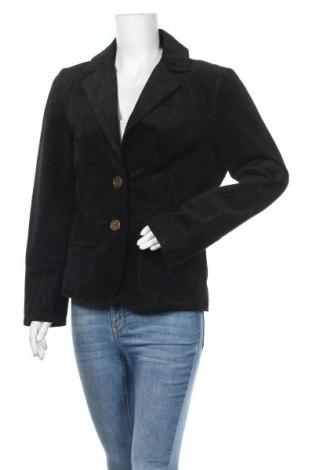 Дамско кожено сако Montego, Размер XL, Цвят Черен, Естествен велур, Цена 23,10лв.