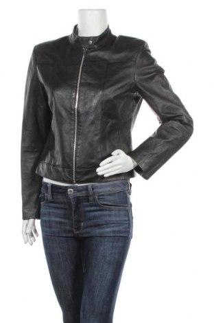 Дамско кожено яке, Размер M, Цвят Черен, Естествена кожа, Цена 79,80лв.