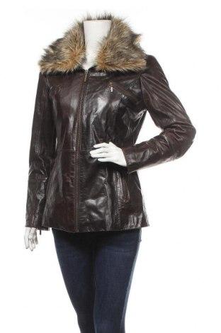 Дамско кожено яке, Размер M, Цвят Кафяв, Естествена кожа, Цена 48,83лв.