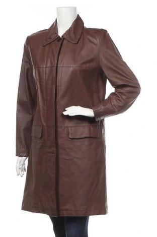 Дамско кожено яке, Размер XL, Цвят Кафяв, Естествена кожа, Цена 77,49лв.