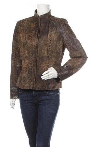 Дамско кожено яке, Размер L, Цвят Кафяв, Естествена кожа, Цена 90,30лв.