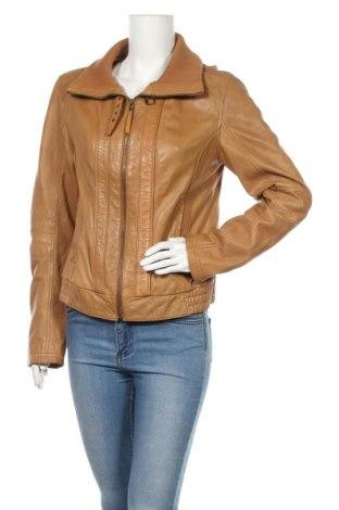 Дамско кожено яке, Размер XL, Цвят Кафяв, Естествена кожа, Цена 82,22лв.
