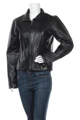 Дамско кожено яке, Размер L, Цвят Черен, Естествена кожа, Цена 18,11лв.