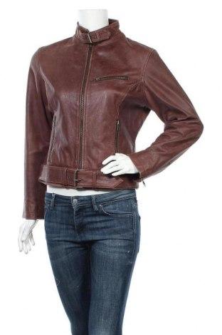 Дамско кожено яке, Размер M, Цвят Кафяв, Естествена кожа, Цена 70,09лв.