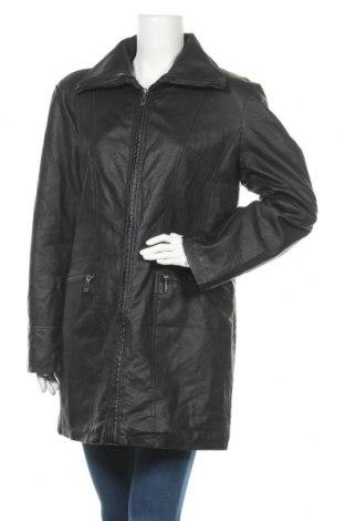 Дамско кожено яке, Размер L, Цвят Черен, Еко кожа, Цена 28,35лв.