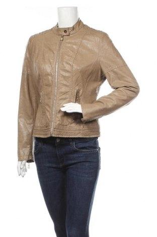 Дамско кожено яке, Размер L, Цвят Кафяв, Еко кожа, Цена 39,69лв.